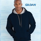 Gildan® Contrast Hooded Sweatshirt