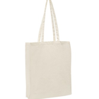 Long Handle Calico Bag with gusset